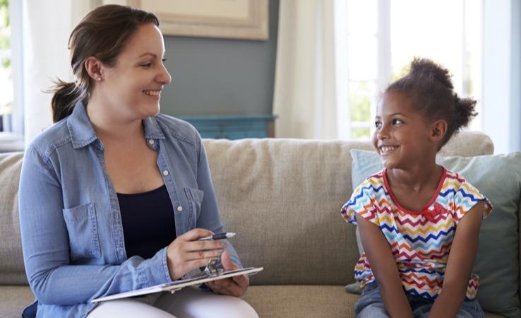 Advisor and Child Smiling
